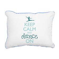 Keep Calm and Dance On Rectangular Canvas Pillow