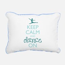 Keep Calm and Dance On Rectangular Canvas Pillow
