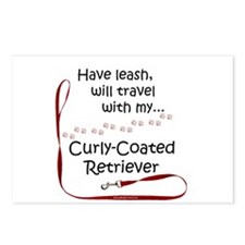 Curly Coated Travel Leash Postcards (Package of 8)