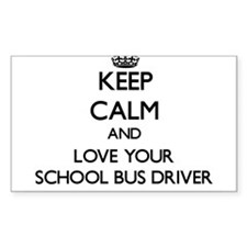 Keep Calm and Love your School Bus Driver Decal