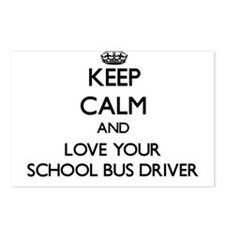 Keep Calm and Love your School Bus Driver Postcard