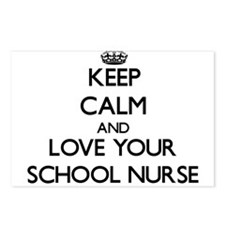 Keep Calm and Love your School Nurse Postcards (Pa