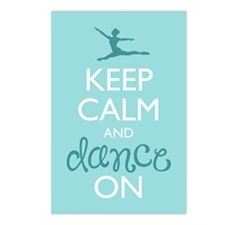 Keep Calm and Dance On Postcards (Package of 8)