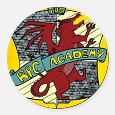 The Rpg Academy Logo Round Car Magnet