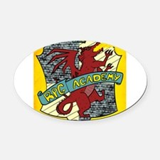 The RPG Academy Logo Oval Car Magnet
