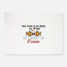 Our Love is as deep as the Ocean 5'x7'Area Rug