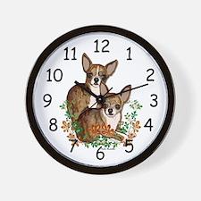 Chihuahua Brindle Smooths Wall Clock