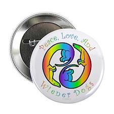 Peace Love & Weenies Harmony Button