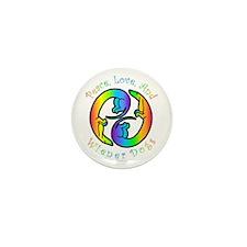 Peace Love & Weenies Mini Button