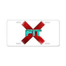 Cross Fit Workout! Aluminum License Plate