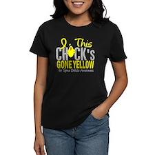 Spina Bifida ChickGoneYellow1 Tee