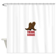 THINK SQUARE Shower Curtain