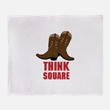 THINK SQUARE Throw Blanket