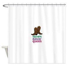 square dancin queen Shower Curtain