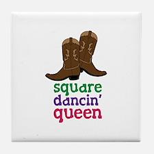 square dancin queen Tile Coaster