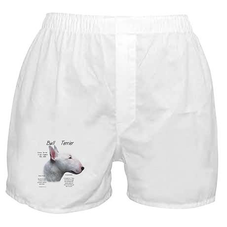 White Bull Terrier Boxer Shorts