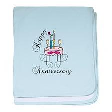 Happy Anniversary baby blanket
