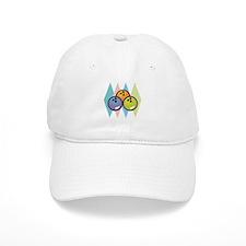 Retro Argyle Bowling Design Baseball Cap