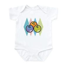 Retro Argyle Bowling Design Infant Bodysuit