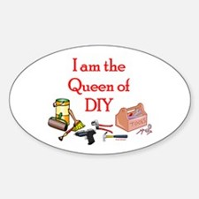 Queen of D.I.Y. Oval Decal