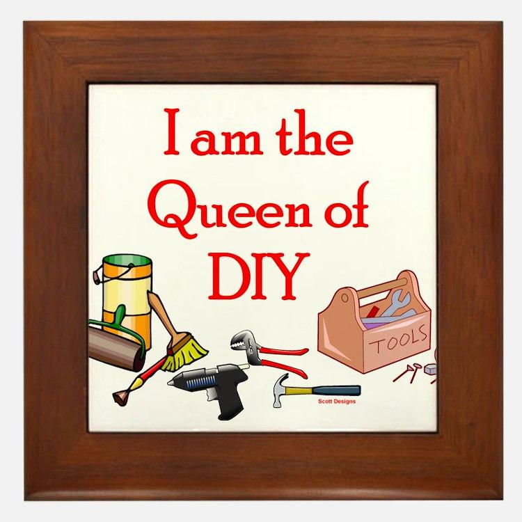 Queen of D.I.Y. Framed Tile