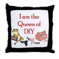 Queen of D.I.Y. Throw Pillow