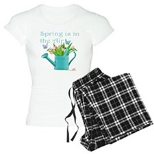Pink Tulips and Butterflies Pajamas