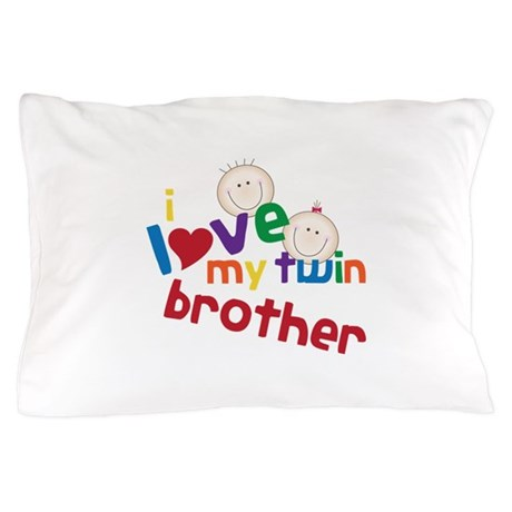 love my twin brother Pillow Case by Embroidery3