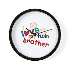 i love my twin brother Wall Clock