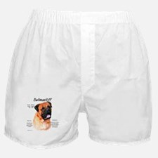 Red Bullmastiff Boxer Shorts