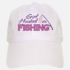 Girl Hooked On Fishing Baseball Baseball Cap