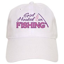 Girl Hooked On Fishing Baseball Cap