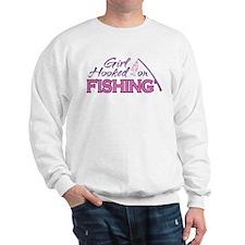 Girl Hooked On Fishing Sweatshirt