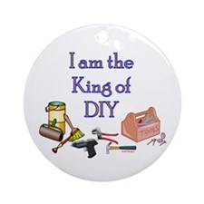 King of D.I.Y. Ornament (Round)