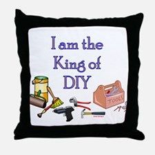 King of D.I.Y. Throw Pillow