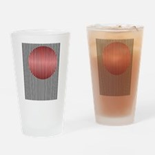 Red Illusion Drinking Glass