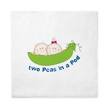 two peas in a pod Queen Duvet