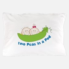 two peas in a pod Pillow Case