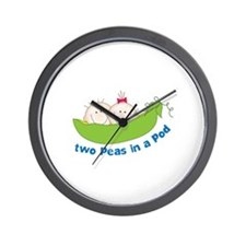 two peas in a pod Wall Clock