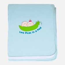 two peas in a pod baby blanket