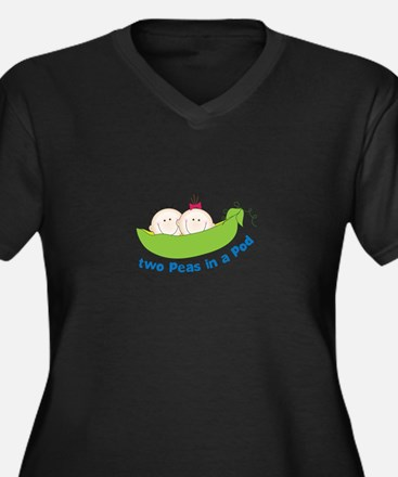 two peas in a pod Plus Size T-Shirt