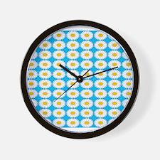 Tiled Sunflowers 200 Wall Clock