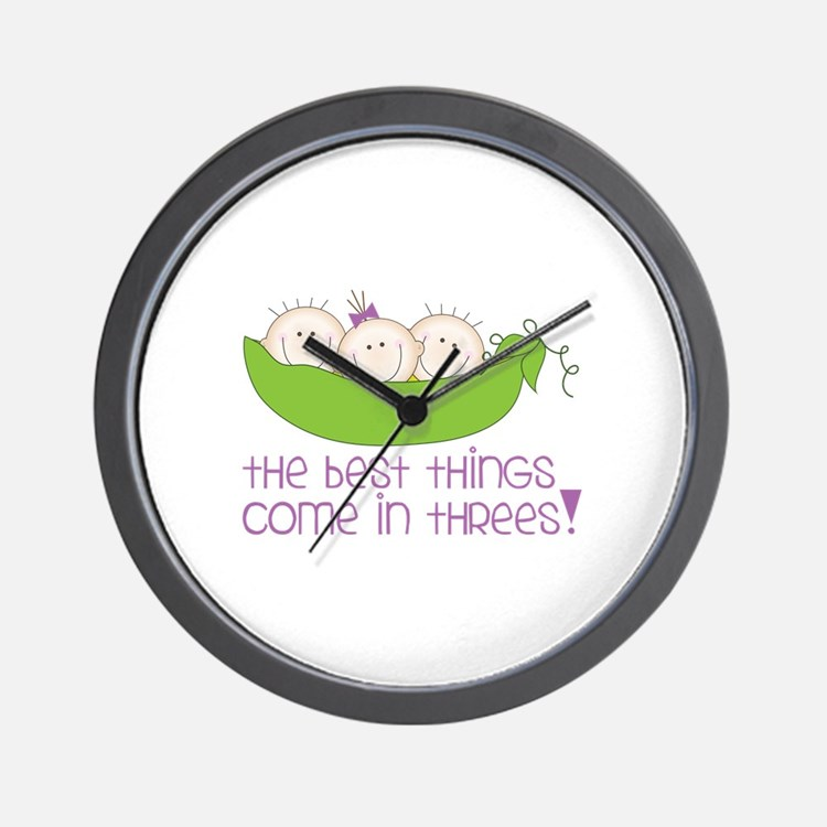 tHe best tHinGs come in tHRess! Wall Clock