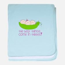 tHe best tHinGs come in tHRess! baby blanket