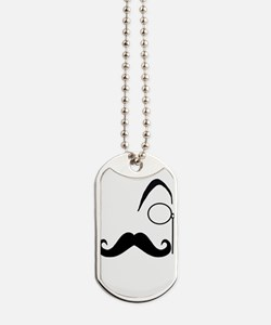 Le Sexy Stache Dog Tags