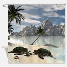 Turtles family Shower Curtain