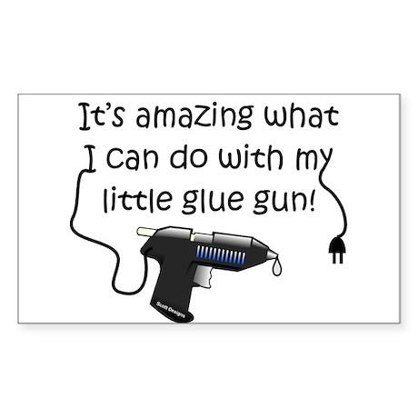 Amazing Glue Rectangle Sticker