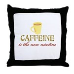 Caffeine/Nicotine Throw Pillow