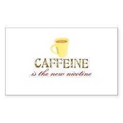 Caffeine/Nicotine Rectangle Decal