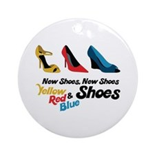 New Shoes Ornament (Round)